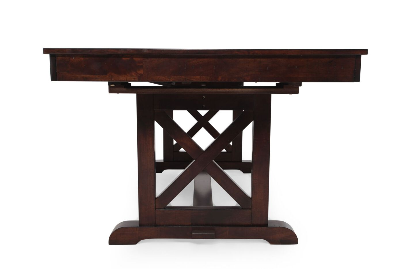 Winners only java pedestal table mathis brothers furniture for Dining table only