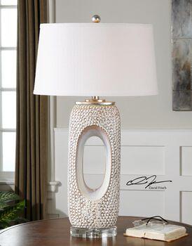 Uttermost Carbonado Ivory Lamp