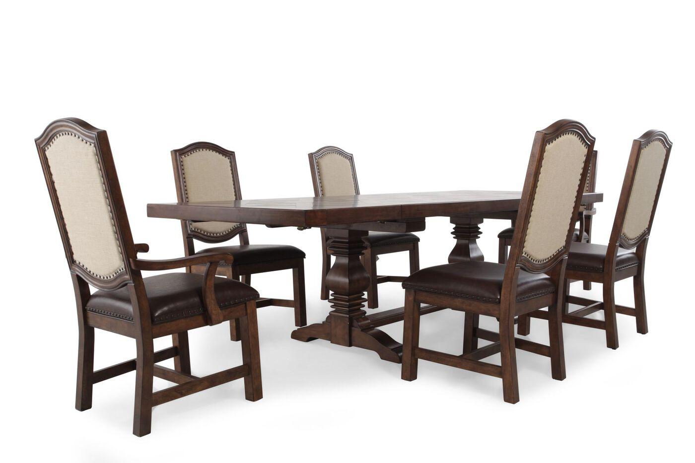 samuel lawrence american attitude seven piece dining table: seven piece dining set