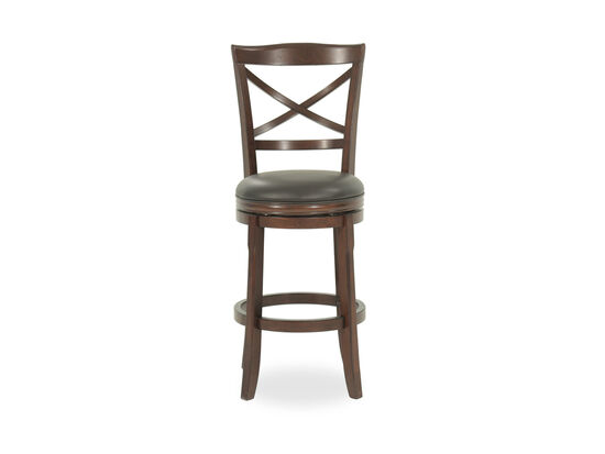 Ashley Porter 30 Quot Brown Faux Leather Swivel Bar Stool