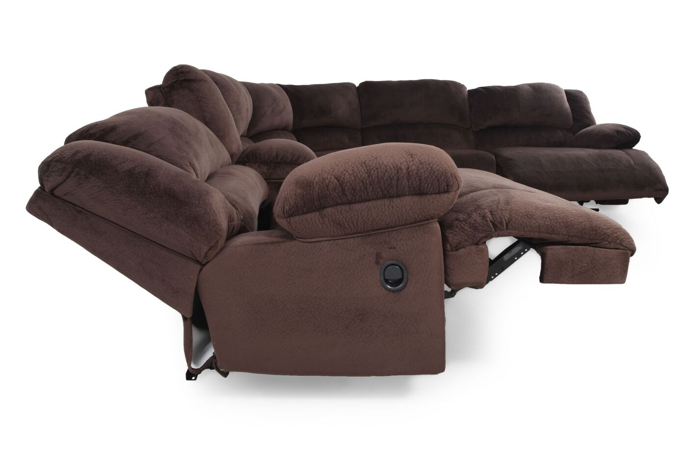 Ashley Toletta Chocolate Sectional Mathis Brothers Furniture