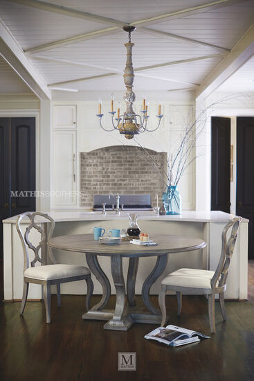 Bernhardt Marquesa Round Dining Table Mathis Brothers Furniture
