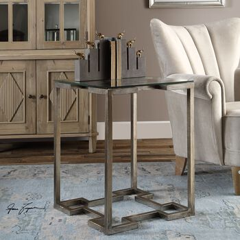 Uttermost Kelli Glass Top Accent Table