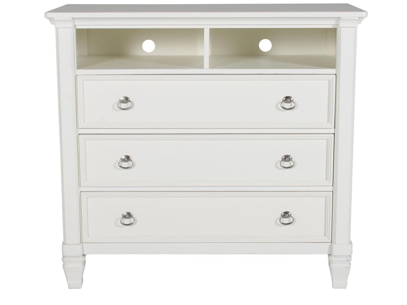 ashley prentice white media chest mathis brothers. Black Bedroom Furniture Sets. Home Design Ideas