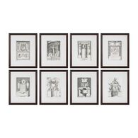 Uttermost Monuments Framed Prints S/8