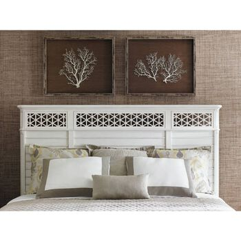 Stanley Cypress Grove Parchment Wood King Panel Bed