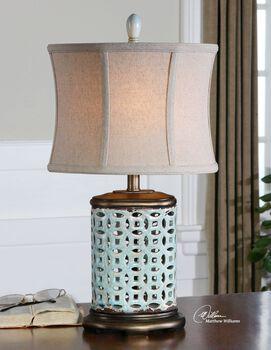 Uttermost Rosignano Blue Buffet Lamp