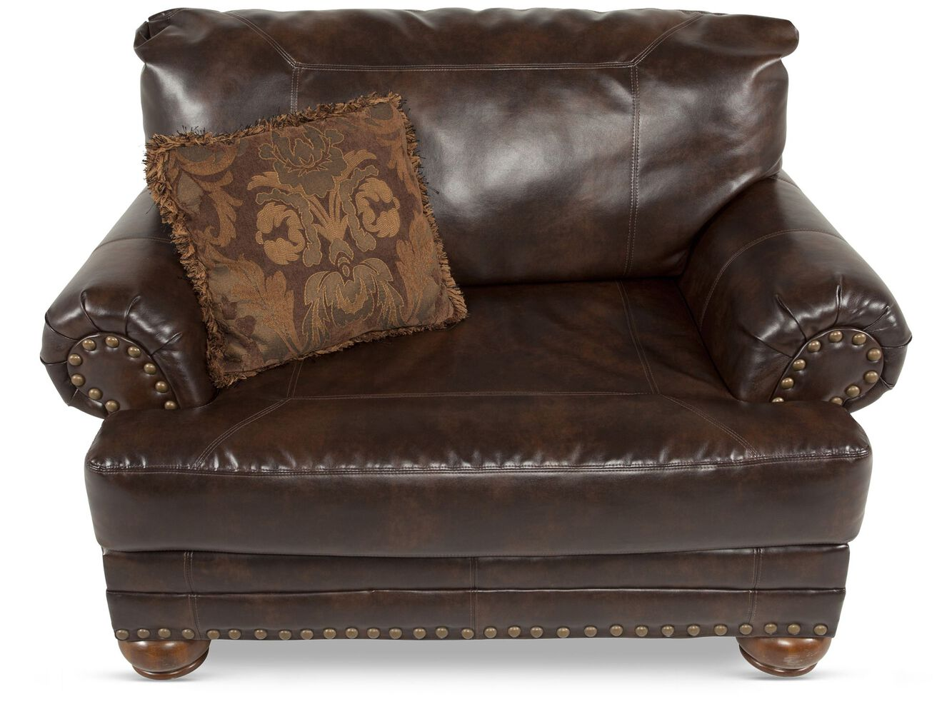 leather chair and a half by ashley mathis brothers. Black Bedroom Furniture Sets. Home Design Ideas