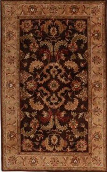 LBJ Hand Tufted Wool Dark Brown/Gold Rug