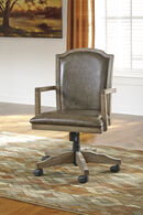 Ashley Tanshire Grayish Brown Home Office Swivel Desk Chair
