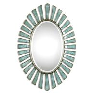 Uttermost Morvoren Blue-gray Oval Mirror
