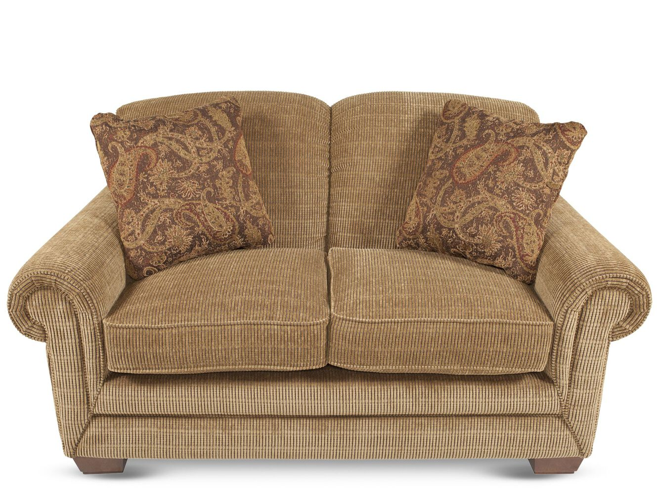 La Z Boy Mackenzie Burlap Loveseat Mathis Brothers Furniture
