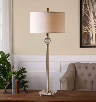 Uttermost Mesita Brass Buffet Lamp