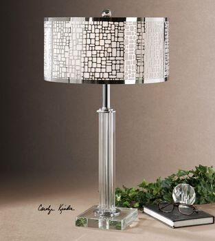 Uttermost Lucius Crystal Column Table Lamp
