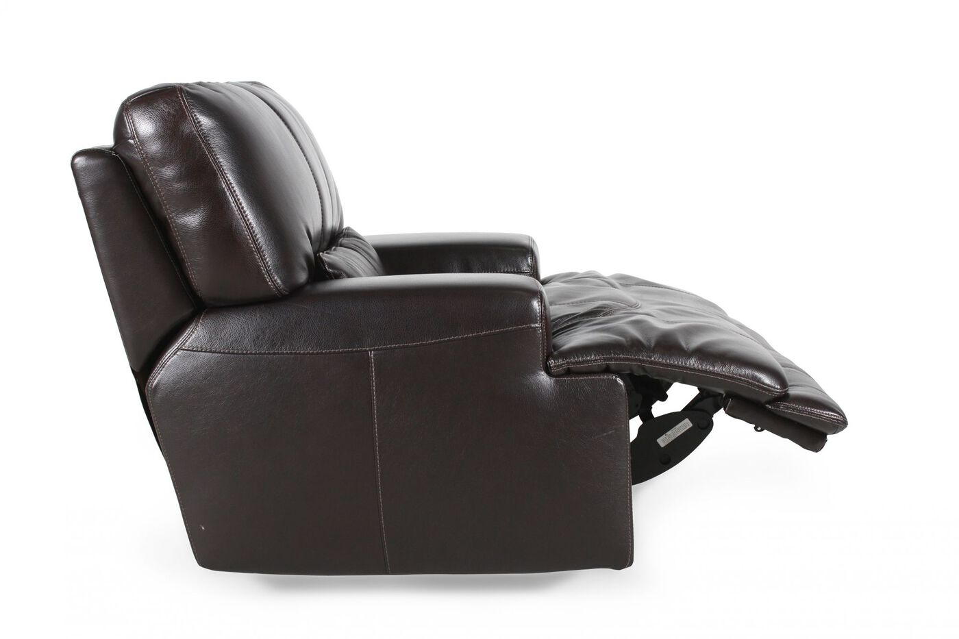 Simon Li Leather Longhorn Blackberry Recliner Mathis