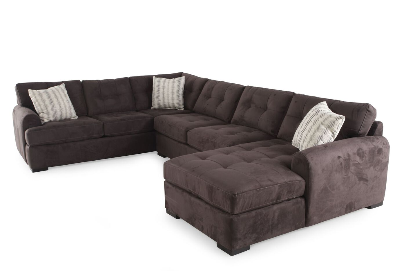 Jonathan Louis Carlo Three Piece Sectional Mathis Brothers Furniture