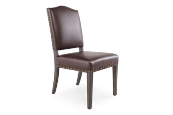 Boulevard Brown Leather Dining Chair