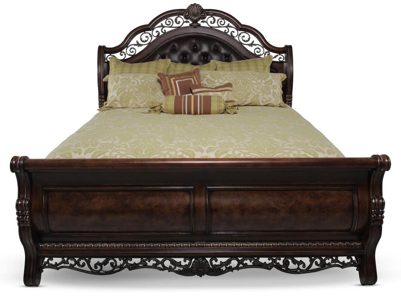 pulaski birkhaven sleigh bed mathis brothers furniture. Black Bedroom Furniture Sets. Home Design Ideas