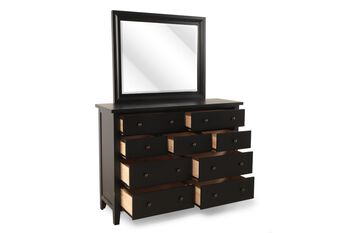Winners Only Vintage Ebony Dresser and Mirror