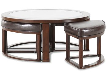 Ashley Marion Round Cocktail Table & Four Stools