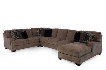 Ashley Millennium Katisha Platinium Secitonal Mathis Brothers Furniture