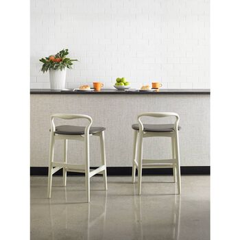 Stanley Crestaire Capiz Hooper Counter Stool