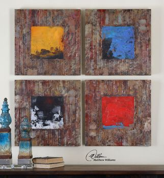 Uttermost Primary Blocks Wall Art S/4