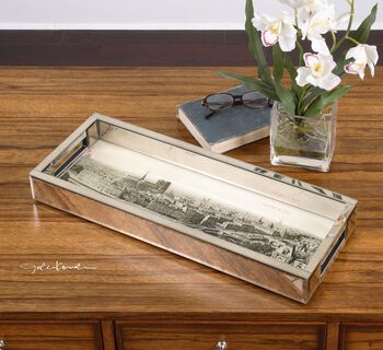 Uttermost Panorama De Paris Mirrored Tray