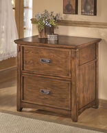 Ashley Cross Island Medium Brown Lateral File Cabinet