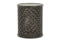 Thomasville Ellen DeGeneres Nicada Dark Oak Tribal Drink Table