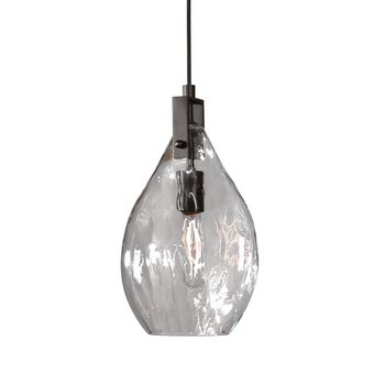 Uttermost Campester 1 Light Watered Glass Mini Pendant
