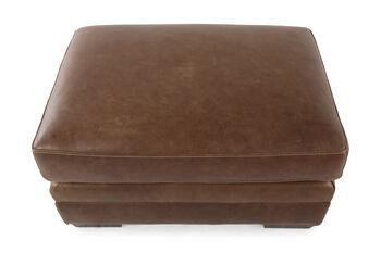 Bernhardt Tolbert Leather Ottoman