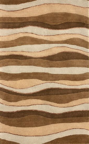 LBJ Hand Tufted Wool Brown/Beige Rug