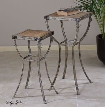Uttermost Hewson Plant Stands Set/2