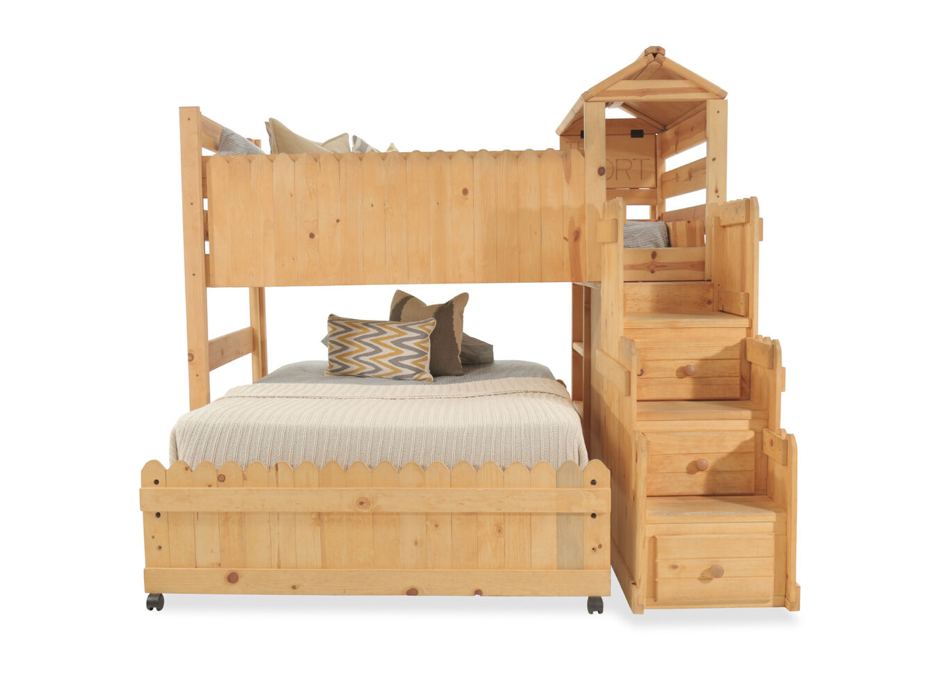 Mathis Brothers Bedroom Furniture Trendwood The Fort Brown Loft Bed With Stairway Chest Mathis