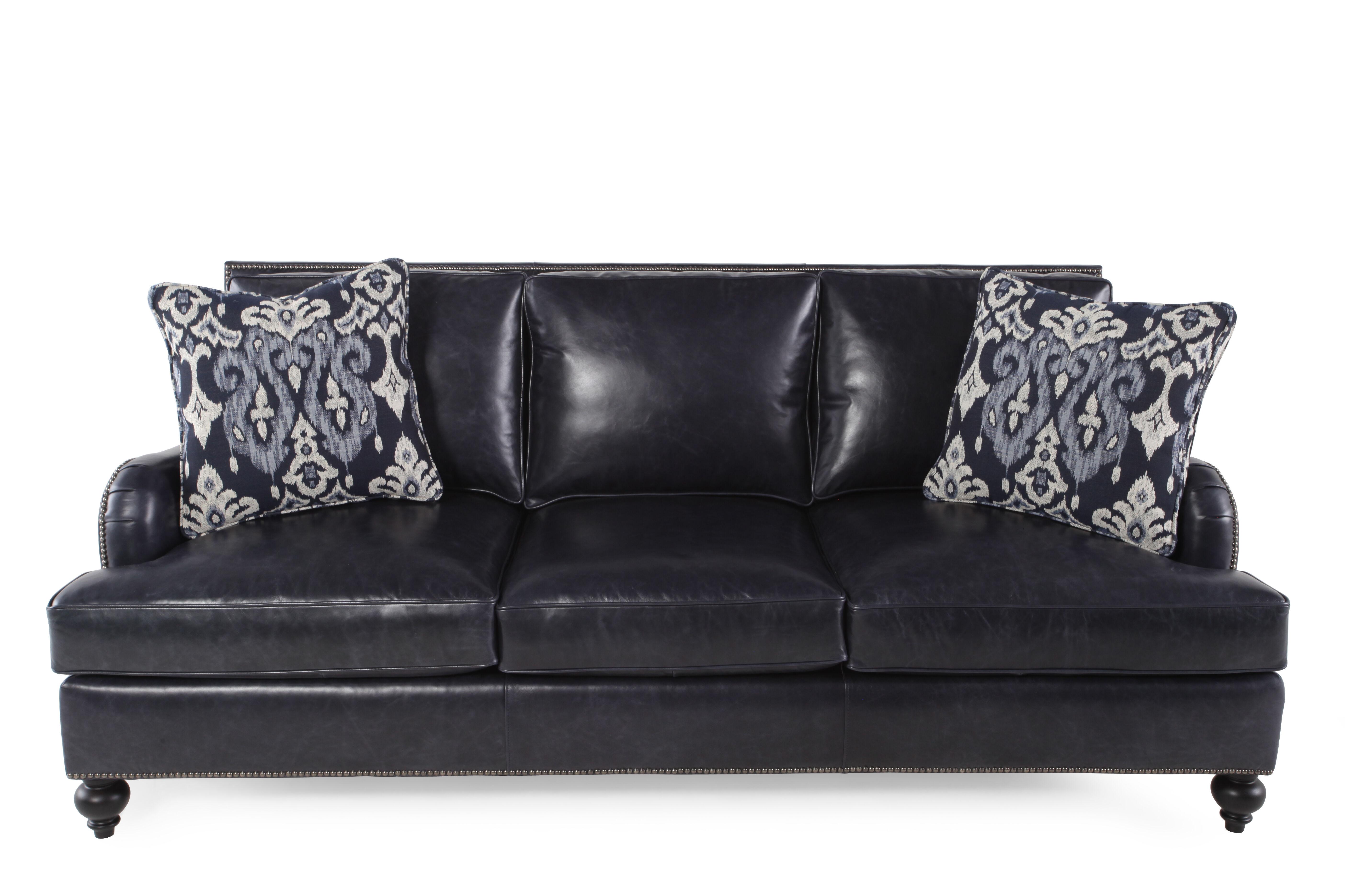 Bernhardt Beckford Leather Sofa; Bernhardt Beckford Leather Sofa ...