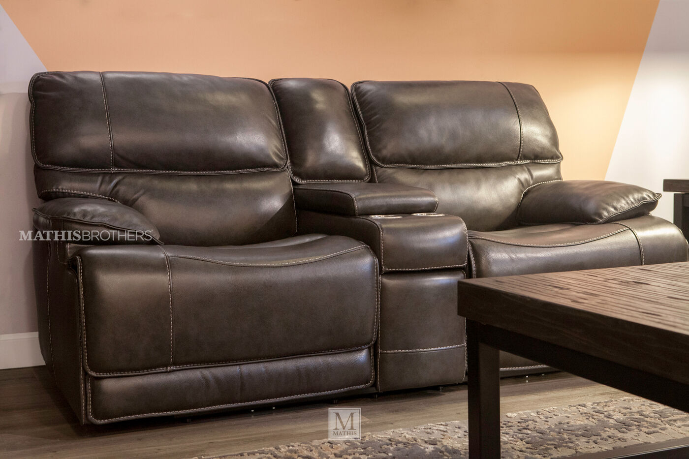 Simon Li Stampede Power Reclining Loveseat With Console
