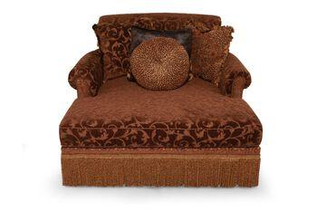 Rachlin Classics Bertha Larchmont Truffle Chaise