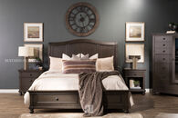 Aspen Oxford Peppercorn Queen Sleigh Storage Bed