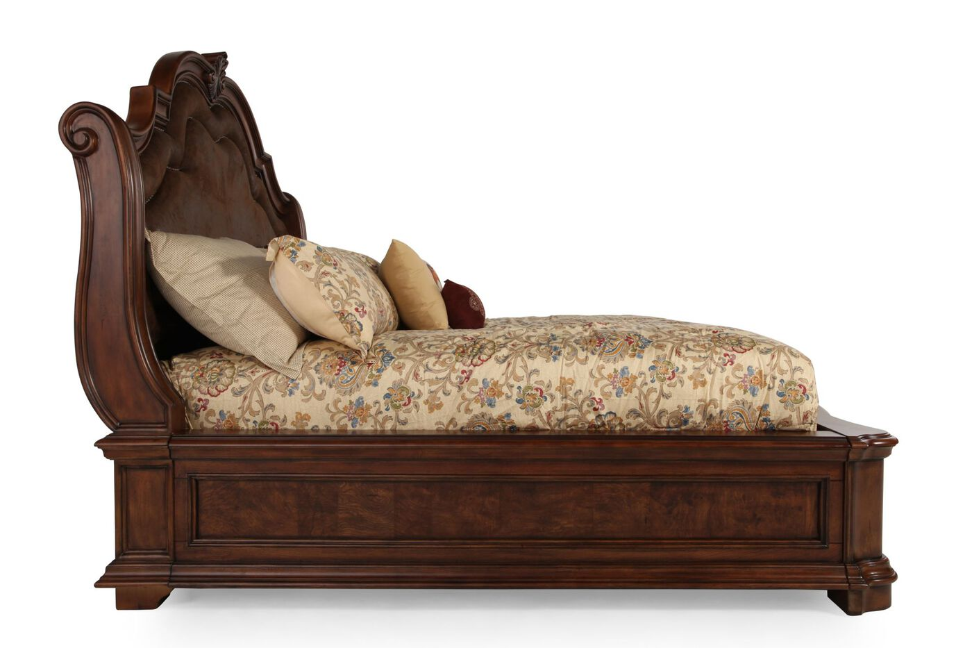 San Mateo Bedroom Furniture Pulaski San Mateo Sleigh Bed Mathis Brothers Furniture