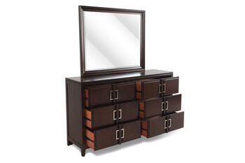 Samuel Lawrence Brighton Mocha Dresser and Mirror