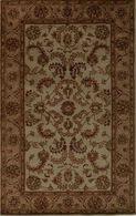 LBJ Hand Tufted Wool Ivory/brown 3' X 3' Round Rug