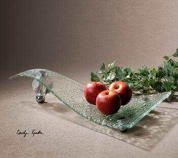 Uttermost Zorb Textured Glass Tray