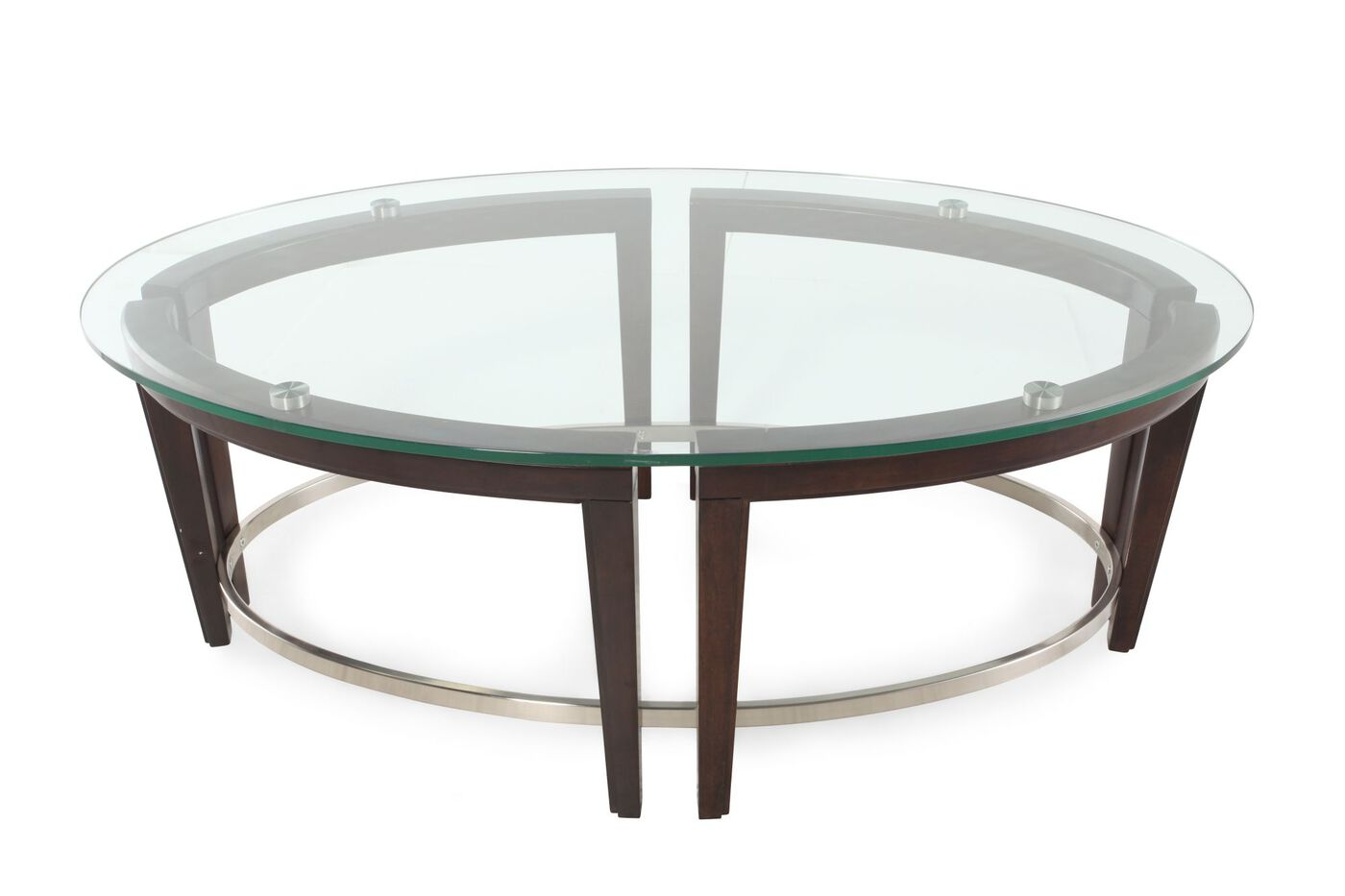 Magnussen home carmen oval cocktail table mathis Oval cocktail table living room furniture