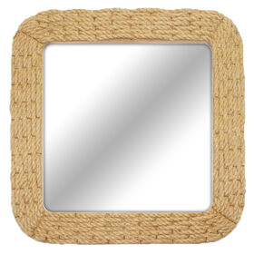 20 X 20-in Natural Rope Border Mirror