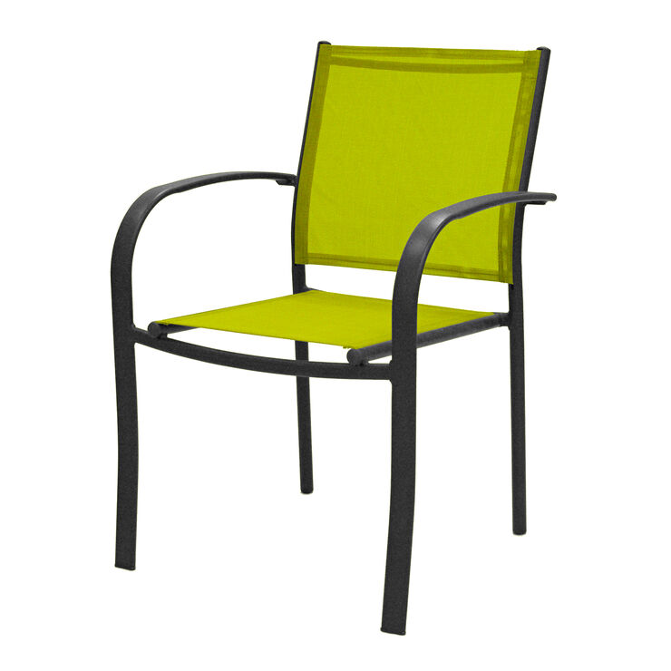 Lime Green Sling Low Back Chair At Home