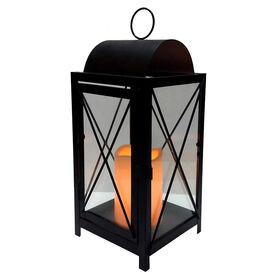 13.25-in. Metal & Glass X-style Lantern
