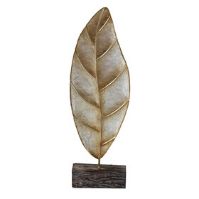 Picture of Metal Leaf on Stand, Silver, 7x24-in.