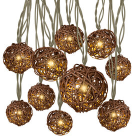 10-Count Rattan String Light Set