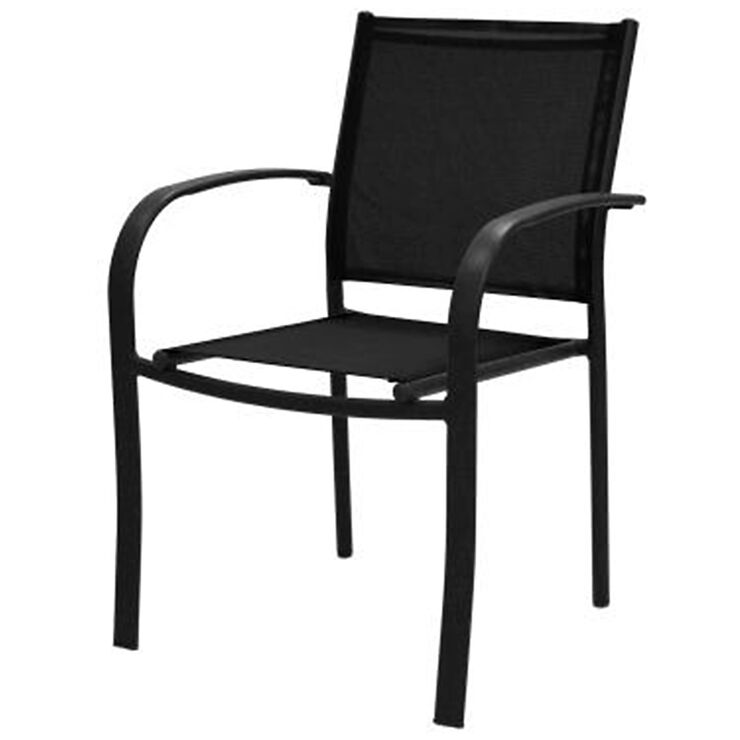 Black Sling Low back Chair At Home